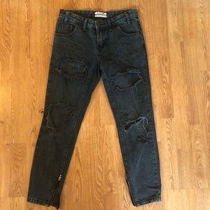 One teaspoon black Freebirds trashed jeans 25
